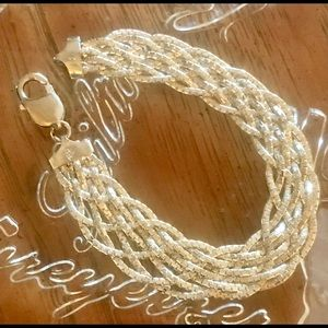 20 grams 925 Silver Made in Italy Braided Bracelet